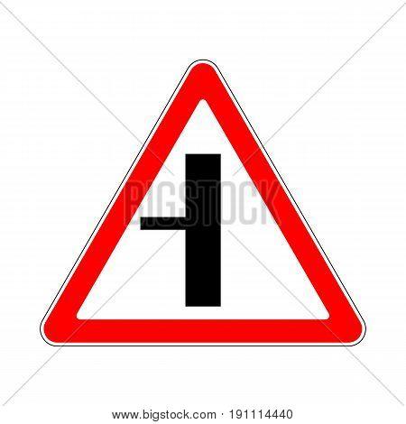 Illustration of Triangle Warning Sign Left Turn