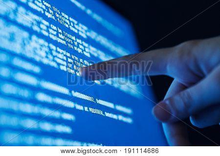Processor, hard drive, computer networks, server, number system, programming language.