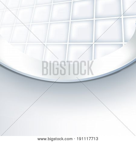 Vector realistic Illustration toilet bowl. View from inside the toilet bowl.