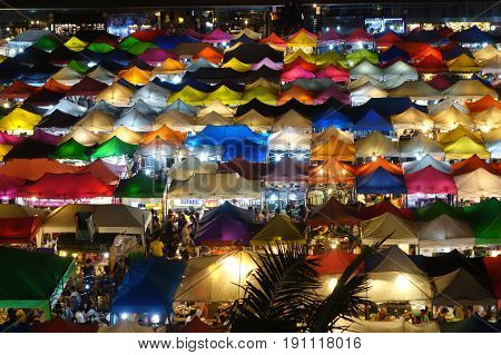 Talad Rod Fai night market in Bangkok