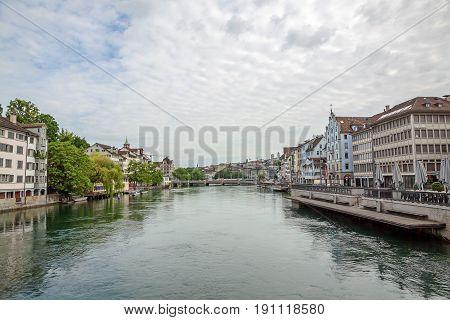 Zurich, River Limmat, Downtown