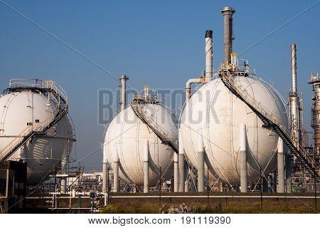 Spherical Gas Tank Farm