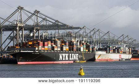 Port Ship Shipping Container