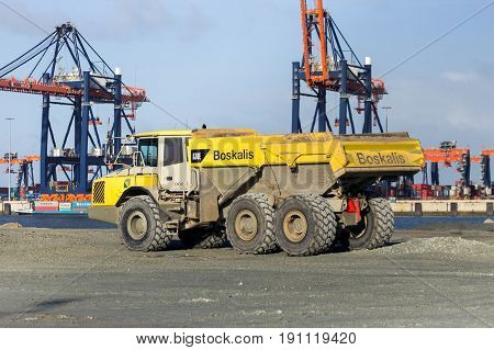 Construction Site Dump Truck