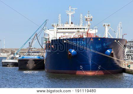 Oil Tanker Port Antwerp