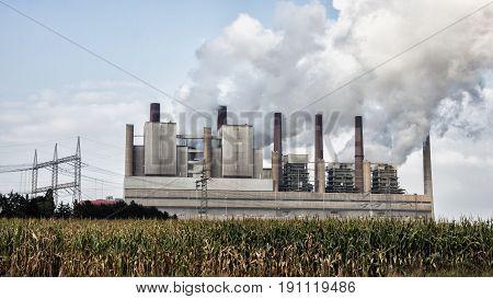 Fossil Fuel Power Station Emission