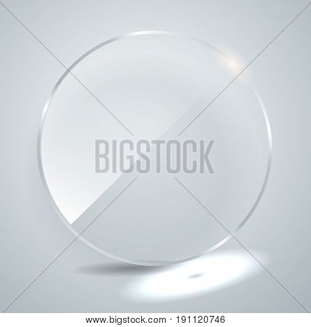 Glass Plate. Vector Illustration.
