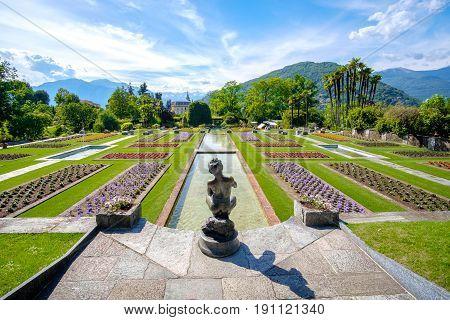 famous italian gardens example - Villa Taranto botanical garden - Pallanza - Lago Maggiore - piedmont - Italy