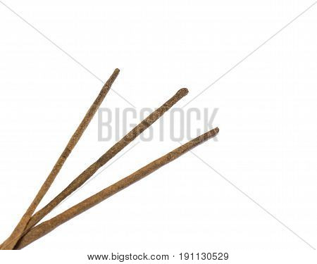 Sticks for relaxation on a white background inexpensive and effective can also relieve stress and fatigue
