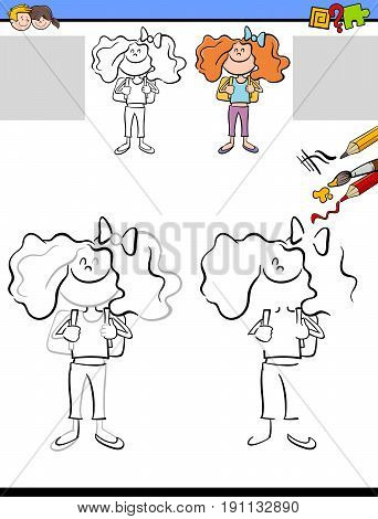 Drawing And Coloring Worksheet