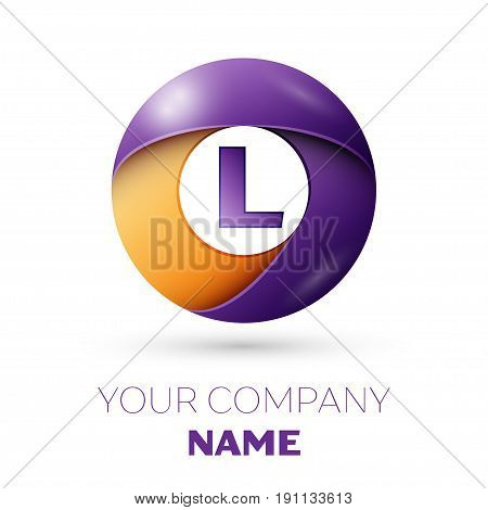 Letter L Vector Logo Symbol In The Colorful Circle On White Background. Vector Template For Your Des