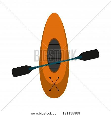oar and row boat icon image vector illustration design