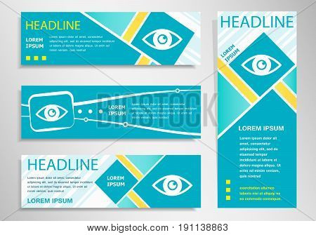 Eye Icon On Vertical And Horizontal Banner