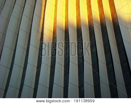 A piece of Sunlight on a Building Wall.