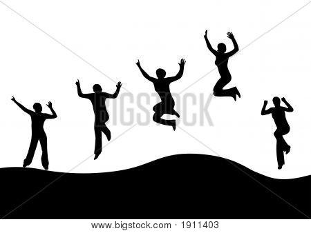 Jumping Women