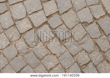 Textured old vintage pavers St Petersburg Russia