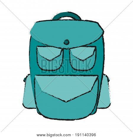 travel backpack icon image vector illustration design