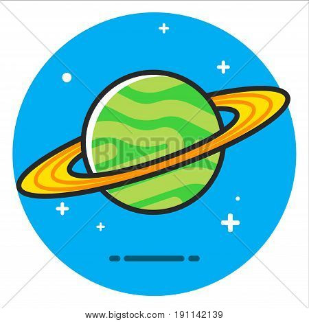 green planet illustration design graphic vector art