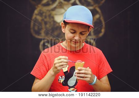 Young Man With Ice Cream