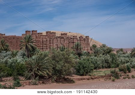 Kasbah Ait Ben Haddou In The Atlas Mountains Of Morocco. Medieval Fortification City, Unesco World H