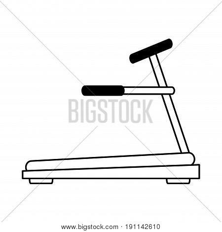 treadmill fitness related icon image vector illustration design  single black line