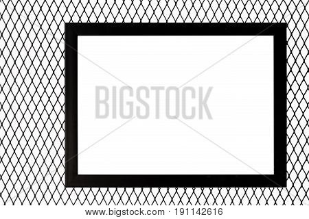 Photo Frame On Metal Wire Net