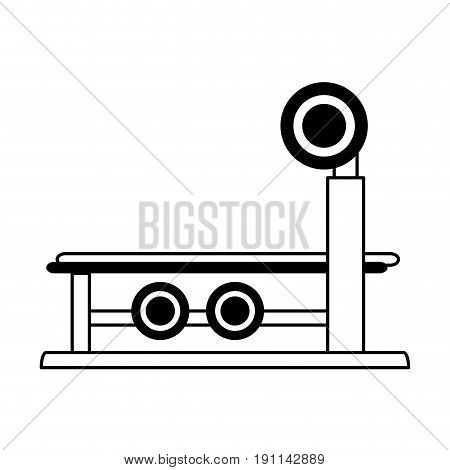 bench press fitness related icon image vector illustration design  single black line