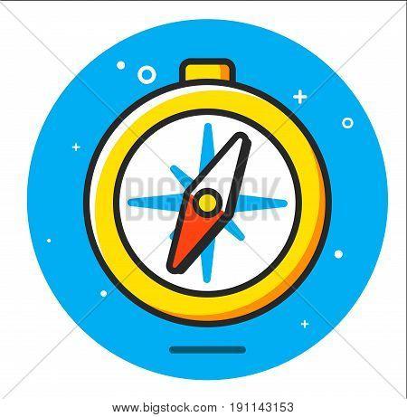 compass icon illustration design graphic art rasterized
