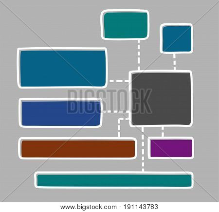 Diagram, chart, colour, frame, text, blank, grey background. A rectangular frame with a thin white outline. The outline is offset to the side. Vector template for information graphics.