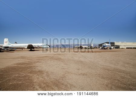 Tucson, Arizona, USA - 14th December 2014 - Pima Air and Space Museum, abandoned Aeroplanes - 14th December 2014