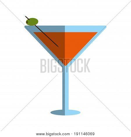 Refreshing liquor cocktail illustration icon vector graphic design shadow