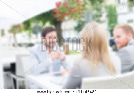 Blurred Business Background Concept: Lifestyle After Hours Relaxing