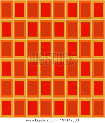 Seamless pattern with red and orange tiles. Vector illustration