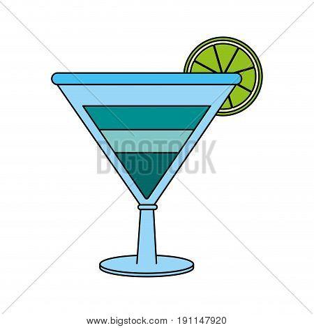 Refreshing liquor cocktail illustration icon vector graphic design flat