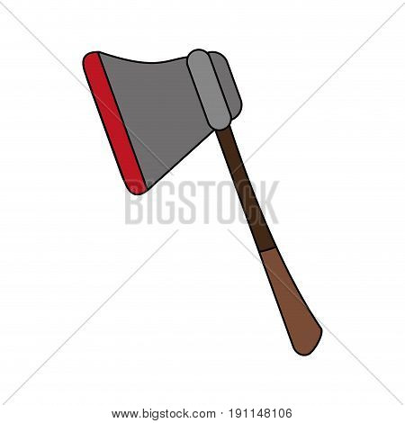 Ax felling trees icon vector illustration design graphic flat