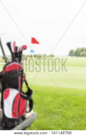 Blurred Golf Background Concept