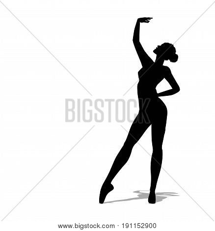 vector Beautiful ballerina on a white background