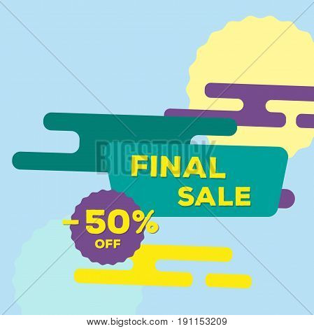 Final sale banner. Vector template. Modern style