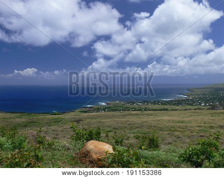 Beautiful Easter Island in the South Pacific