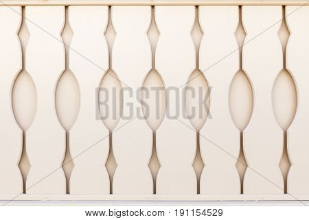 Decorative element of the notched boards. Fence
