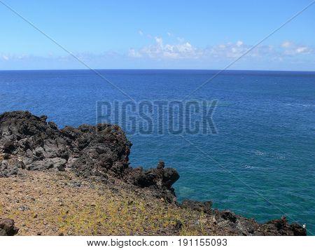 easter island coast. Seascape at day time