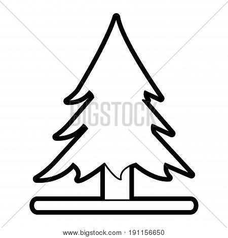 Wonderful tree forest icon vector illustration design graphic silhouette