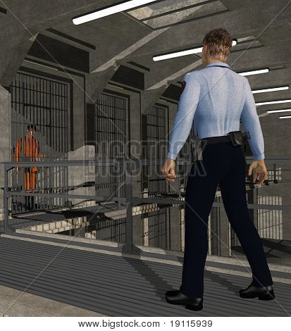 Corrections Officer At Work