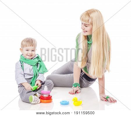 Mother Playing With Son