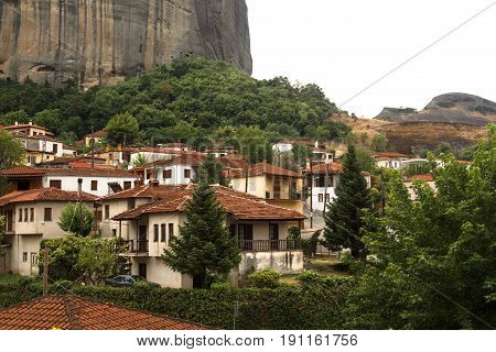 Town of Kastraki, Meteora mountains in Thessaly, Greece