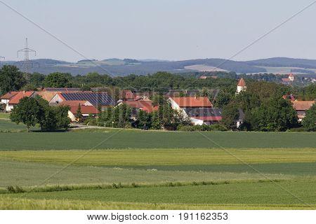 Naabsiegenhofen Schwandorf in bavaria picture taken a little Mountain