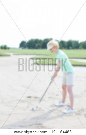 Golf Blurred Background Concept