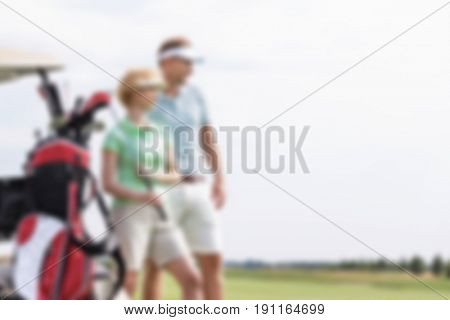 Golf Lifestyle Background Blurred Concept