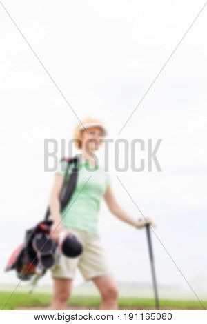 Golfing Background blurred concept
