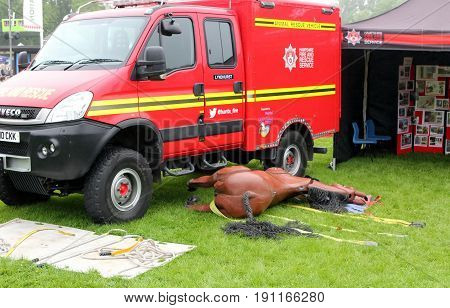 Beaulieu, Hampshire, Uk - May 29 2017: Animal Rescue Vehicle Belonging To The Hampshire Fire And Res